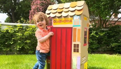 Cardboard box clubhouse