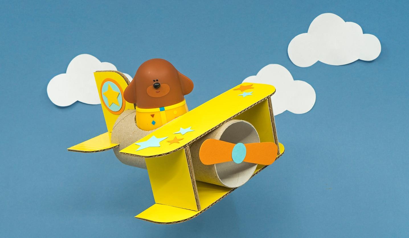 Paper tube toy plane