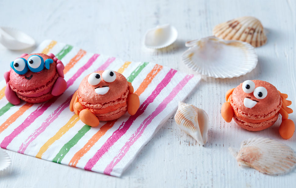 Get your baking hat on and have a go at making our cute Mr and Mr Crab macarons.