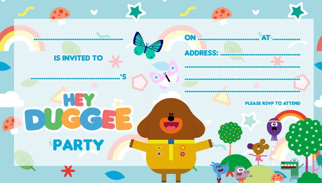 Hey Duggee party invites