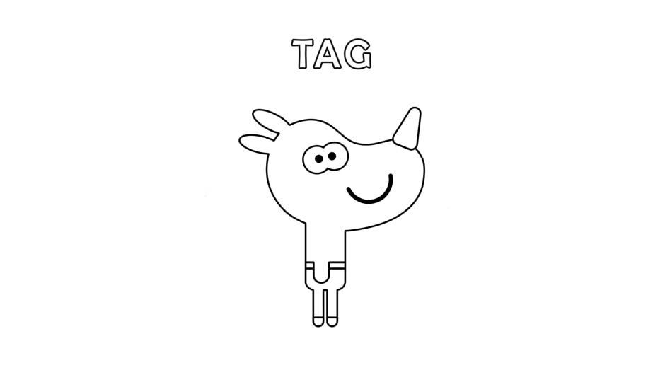 Tag - Colouring Sheet