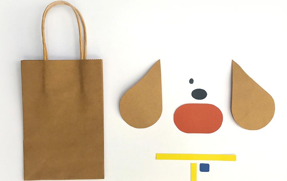 Hey Duggee Gift Bags - Duggee Template