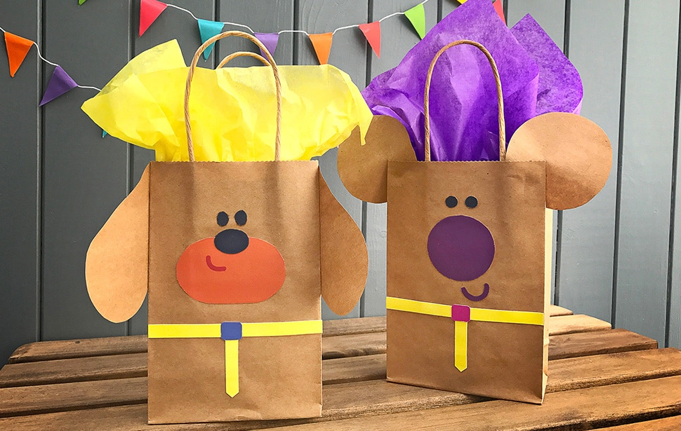 Duggee and Norrie gift bags