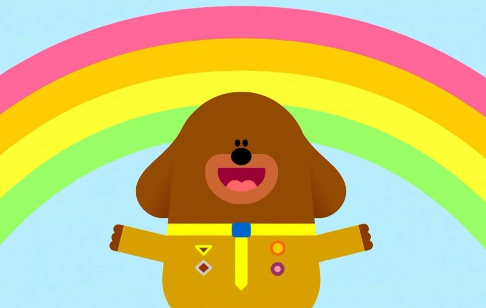 Hey Duggee Bouncing Badge Rainbow