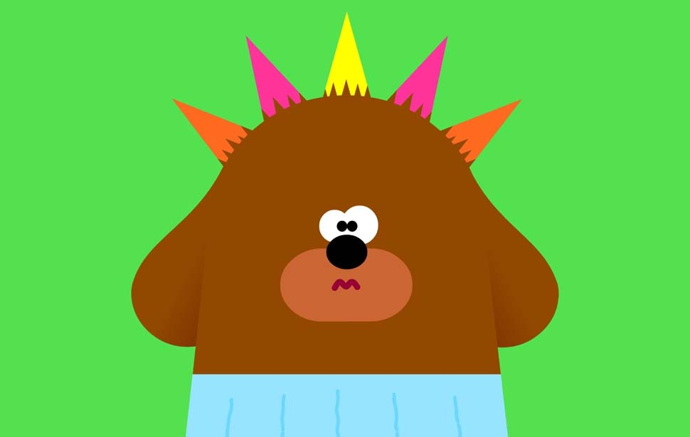 Hey Duggee Hair Badge Mohawk Punk
