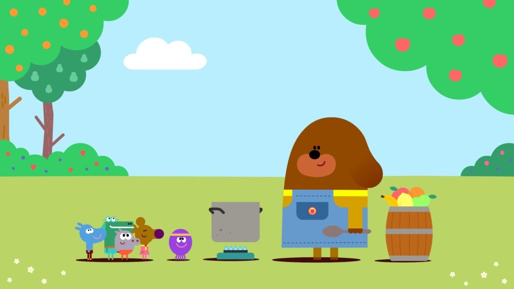 Duggee and the Squirrels make jam in Hey Duggee: The Jam Badge