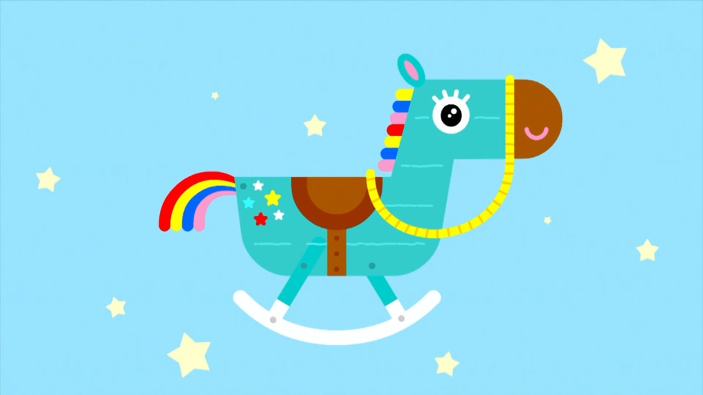 Buckee, the rocking horse from Hey Duggee