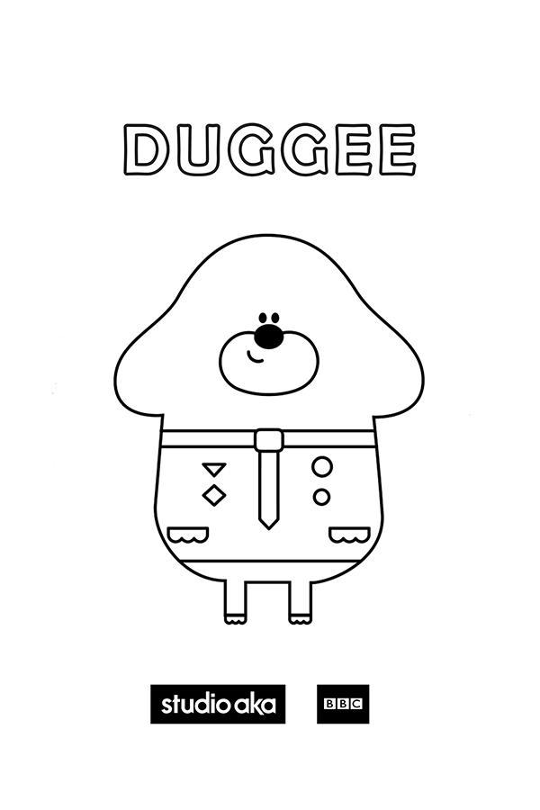 Duggee Colouring Sheet Hey