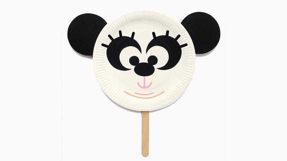 Chew Chew the Panda Paper Plate Mask
