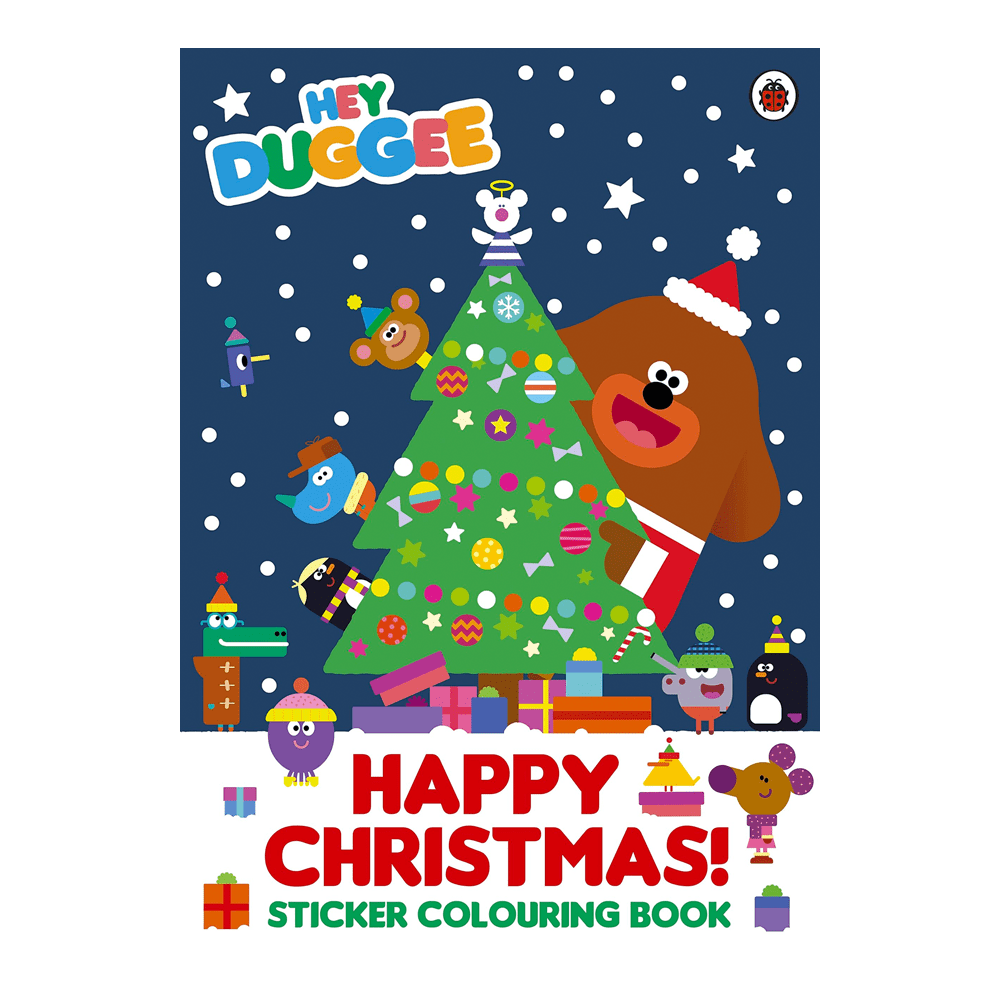 Happy Christmas Sticker Colouring Book