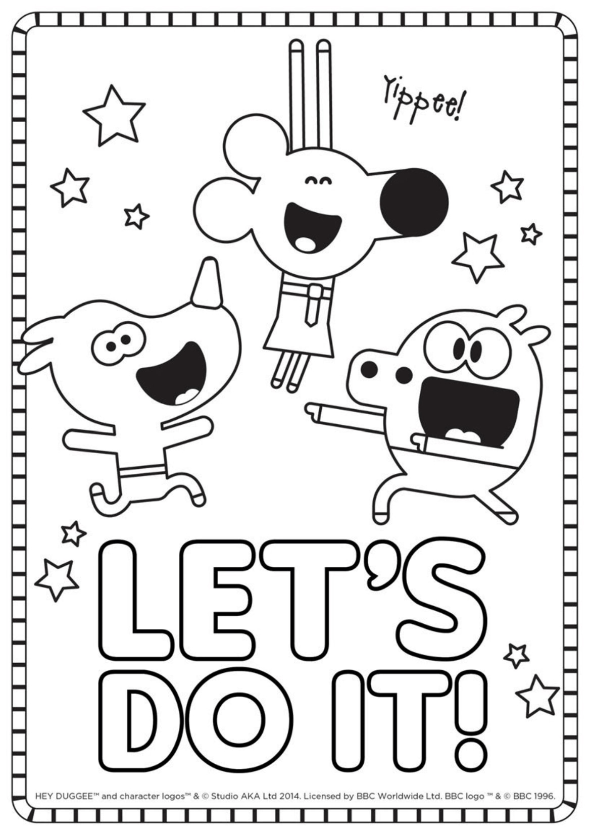 """Let's Do It!"" Colouring Sheet"