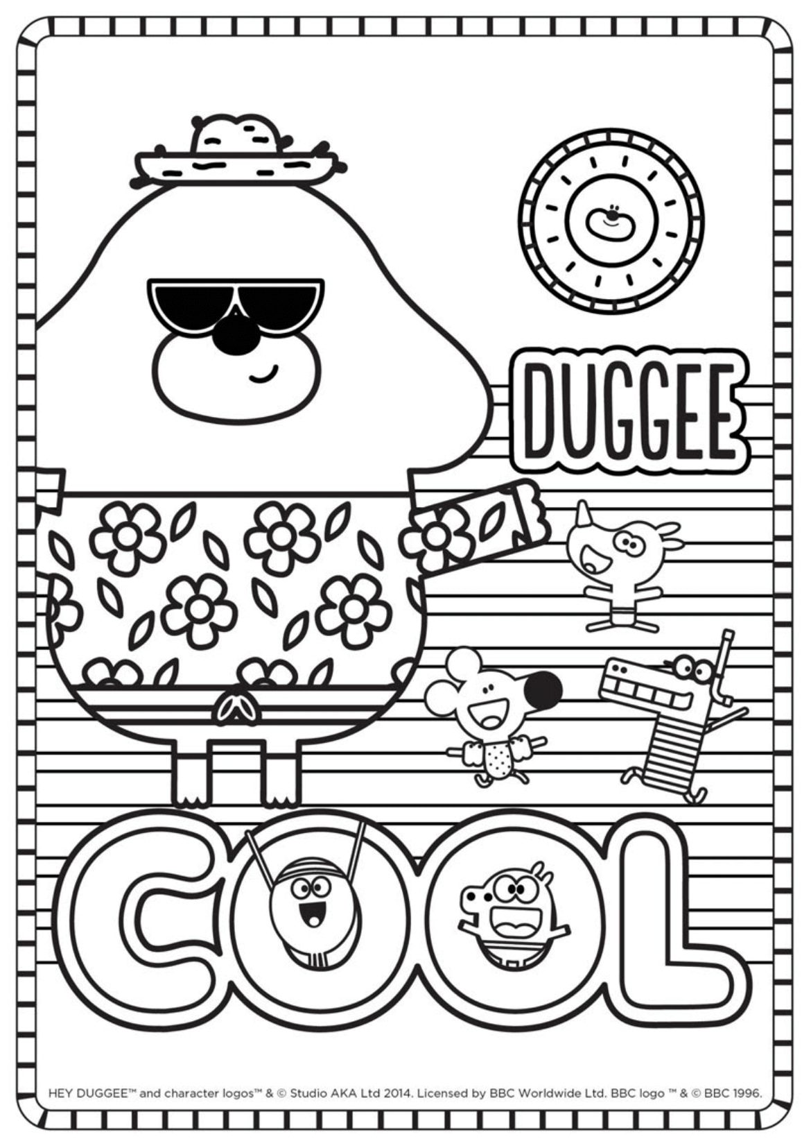 Cool Colouring Sheet