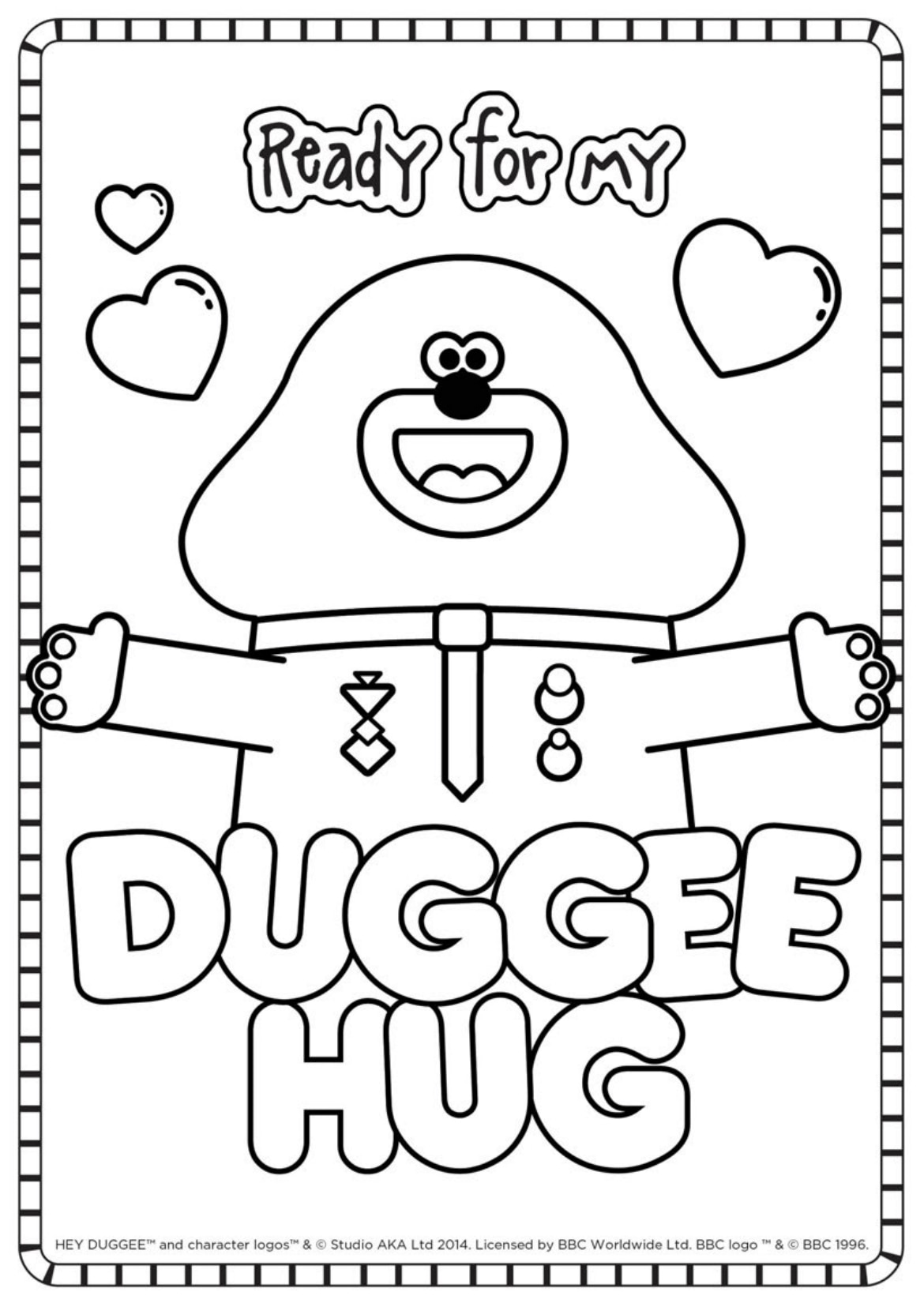 Duggee Hug Colouring Sheet